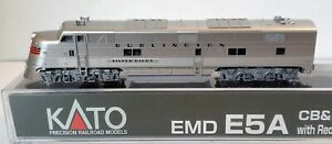 N Scale KATO E5A CB&Q w/Red Nose Stripes With Factory DCC Item #176-5403-DCC