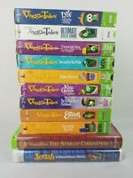 Veggie Tales VHS Tapes Lot of 10 Bible Christian Values Lessons