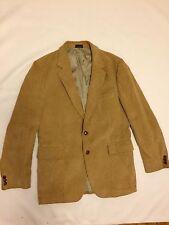 Jordache Mens Tan Corduroy Two Button Blazer Jacket Sport Coat - Size 42R kaki