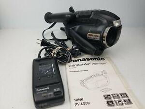 Vintage 1999 Panasonic PV-L559D VHSC Camcorder Palmcorder 150x BUNDLE TESTED