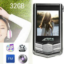 "1.8"" LCD Screen Digital 32GB Slim MP3 MP4 Player Music Video FM Radio + Earphone"