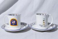 Pusser's Rum British Navy  - Elizabethan Staffordshire Teacup & Saucer 2 Sets