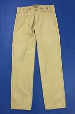 Decauville pantalone uomo usato w34 tg 48 gamba dritta misto lino beige T3592