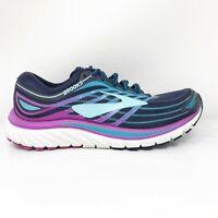 Brooks Womens Glycerin 15 1202471B465 Blue Purple Running Shoes Lace Up Size 7 B