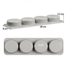 DIY Silicone Soap Mold for Handmade Soap 3D Mould Round Soaps Molds Gifts Pretty