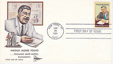 1981 FIRST DAY COVER FDC BLACK HERITAGE WHITNEY MOORE YOUNG GILL CRAFT COVER