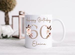Personalised Birthday 18th 21st 40th 50th 60th 70th 80th Mug Cup Gift Present