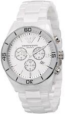 NEW EMPORIO ARMANI AR1424 WHITE CERAMIC WATCH - 2 YEAR WARRANTY