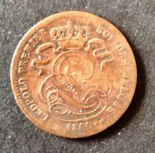 Belgique - Léopold Ier - monnaie de 1 Centime  1860  avec trait