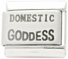 Domestic Goddess 9mm Italian Charm Laser Etched Modular Link