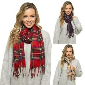 Womens Ladies Undercover Winter Check Tartan Soft Brushed Scarf (195cmx25cm)