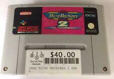 MICRO MACHINES 2 TURBO TOURNAMENT SNES Super Nintendo