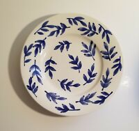 "Tabletops Unlimited 8.5"" Blue Leaf Salad Plate Low Bowl - Over and Over"