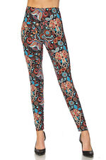 Leggings TC/206 Buttery Soft Always Brushed Black w/Print PLUS SIZE