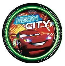 Disney Pixar Cars Neon City Paper Plates 8 pack - 23cm - Party Tableware