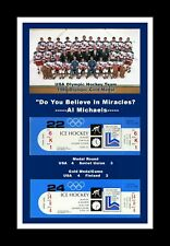 1980 USA MENS OLYMPIC HOCKEY GOLD MEDAL MIRACLE ON ICE MATTED PIC OF TEAM&TIX #2