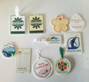 Lot Of 10 Golf Bag Tags