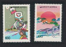 Korea Lunar New Year 'Year of the Monkey' 2v 1991 ** MNH SG#1976-1977
