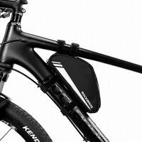 ROCKBROS Cycling Bicycle Frame Bag MTB Bike Triangle Bag Black 0.7L Top Tube Bag