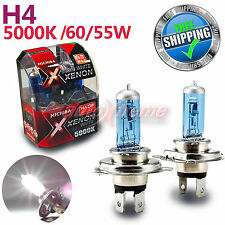 MICHIBA H4 12V 60W/55W 5000K Xenon SUPER WHITE Halogen Light Bulbs Low Beam 2PCS