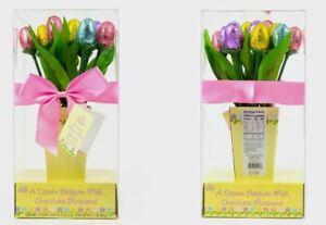 MILK CHOCOLATE TULIPS BUNCH FLOWERS BIRTHDAY GET WELL THANKYOU BOUQUET GIFT MUM