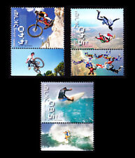 ISRAEL 2009 EXTREME SPORTS - SURFING/MTN BIKING/SKYDIVING #1764-1766 TABS MNH