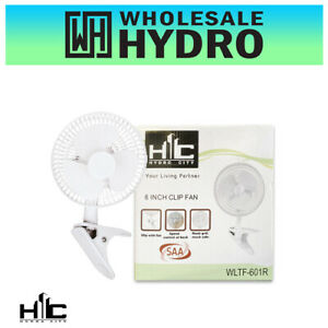 """Hydro City Clip Fan 150mm (6"""") 2 Speed Suitable for Hydroponic Grow Tent / Desk"""