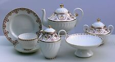 Tea set TERRACOTA FRIEZE twisted 22 pcs/6, Lomonosov Imperial Porcelain, Russia