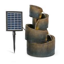 Fuente solar jardin decoracion 2,8 W poliresina 4 niveles LEDS imitación piedra