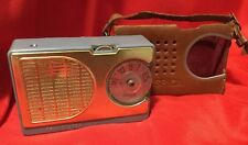 SPICA  ST600 ... Vintage Transistor Radio with Leather Case