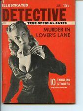 Illustrated Detective Jan. 1956 pocket-size digest magazine VG