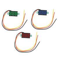 """0.36"""" DC 0-100V 3 Digitalanzeige Mini Gauge Meter Voltmeter Digitale LED Display"""