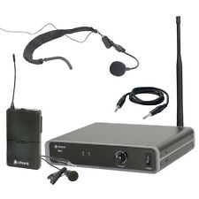 Chord NU1-N Headset + Lavalier Beltpack UHF Wireless Radio Microphone Kit 864.1