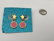 Marc by Marc Jacobs Stars And Discs Gold & Pink Enameled Earrings, Gorgeous