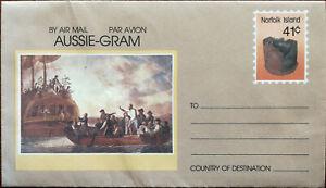 Aussie-Gram Norfolk Isola 41c Non Usato Aria Posta Busta 1989