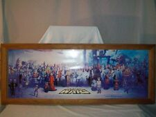 Star Wars Group Picture with Frame Wood and Glass
