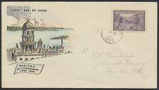 1949 #283 Halifax Bicentenary FDC, Colour Tinted Jacobi Cachet, Hamilton CDS
