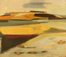 "Erik Bonow, Danish painter. Oil on canvas. ""Vendsyssel"", 1963."