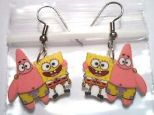 Spongebob Earrings Sponge Bob Square Pants Charms