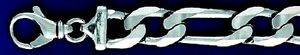 Heavy Figaro 14 mm Sterling Silver Chain & Bracelets  .925 Pure Silver