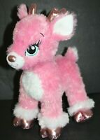 "Build A Bear Workshop TWINKLE Sparkle Pink Plush Supersonic Reindeer 14"" BABW"