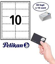 Carta inkjet PELIKAN business card 50 fogli x 10 cards 5,8 X 8,9 CM 190 gr IJP 1