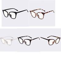 Women's Fashion Sunglasses Plain Glasses Cat Eye Frame Clear Lens Optical Goggle