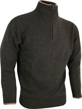 Jack Pyke Ashcombe Dark Olive zipknit sweater 100% lambswool Pullover/Jumper -