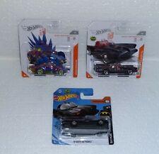 Hot Wheels ID Motosaurus + TV Series Batmobile Short Card RARE  + Bonus
