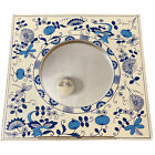 Vintage Seymour Mann Blue and White Wall Hanging Mirror Made in Japan