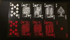 Carbon Fibre Poker Set Playing Cards Home Leisure Games