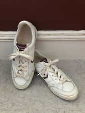 Vintage Jimmy Connors Converse All Star 1980's Low Top Size 7M White/Burgundy