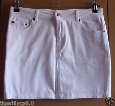 Witte soepele jeans rok Maat 38 NIEUW