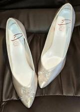 Vintage 1992 Dolce-Pierre Wedding Shoes - Size 8M Weddings Prom - Worn 1 Time